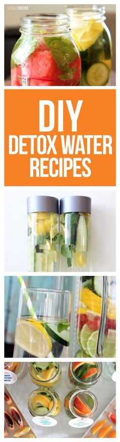 Detox and cleanse your body with these simple, DIY detox water recipes!