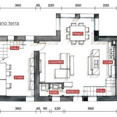 Legno e pietra a vista nella casa restaurata - Cose di Casa Modern Cottage, My House, Facade, House Plans, New Homes, Floor Plans, Layout, House Design, How To Plan