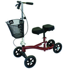 Roscoe, The Original Knee Scooter I have this and it is useful indoors and out.  The basket is removable and it collapses easily.