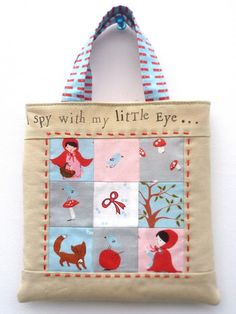 verykerryberry: A Walk in the Woods- Mini Tote Tutorial I like the red stitching on here