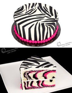 Pink Zebra Cake, video tutorial