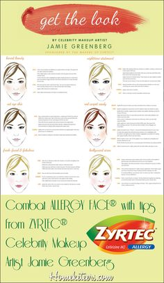 Combat ALLERGY FACE® with tips from ZYRTEC® Celebrity Makeup Artist Jamie Greenberg.