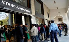 Starbucks opens in India.