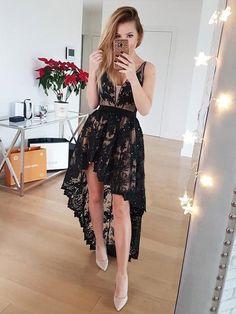 Homecoming Dress Black Prom Dresses Vintage Prom Dresses A-Line Homecoming Dress V-neck Prom Dresses Lace Homecoming Dresses 2019 Backless Homecoming Dresses, V Neck Prom Dresses, Lace Party Dresses, Black Wedding Dresses, Sexy Party Dress, Dress Prom, Prom Gowns, Formal Gowns, Bridesmaid Dresses
