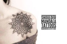 Un nouveau tattoo ideas avec de jolis modèles de Mandala sur épaule / Shoulder Mandala :)