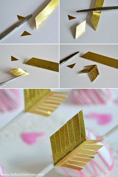 DIY arrow tips for Shot Through the Heart Cake Pops | Hello Little Home #ValentinesDay