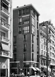 Edificio per abitazioni e negozi GPA Monti via Delio Tessa 2, via San Simpliciano 5, Milano 1959-1961