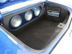 1971 Chevrolet Chevelle SS Clone custom car audio trunk fiberglass stereo install subwoofers amps