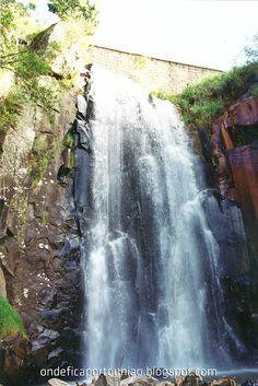 Cachoeira do Km 13 na comunidade do Km 13 em Porto União - Santa Catarina - Brasil.