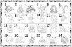 Winter Wonderland, Diagram, Christmas, Colouring In, Party, Advent Season, Advent Calendar, Xmas, Weihnachten