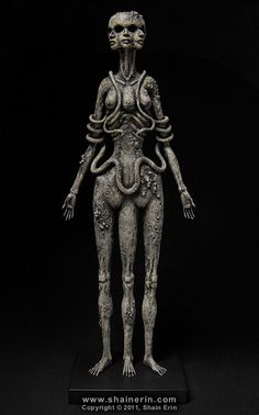 Hecate Sculpture by Shain Erin, via Flickr; Handmade Sculpture. 17.25 inches tall. Mixed media.