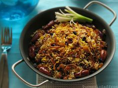 next year I will make this: reshteh polo (noodles & rice) from Turmeric and Saffron