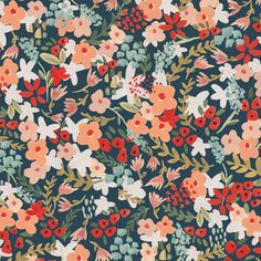 Wilder in Multi (Sarah York - Frolic Voile) Fabric Patterns, Print Patterns, Pattern Designs, Floral Patterns, Sewing Patterns, Cute Wallpapers, Wallpaper Backgrounds, Boho Backgrounds, Textiles
