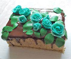 orechová torta s maslovým krémov a čokoládovou polevou, marcipánová výzdoba Desserts, Food, Tailgate Desserts, Deserts, Essen, Postres, Meals, Dessert, Yemek