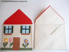 house from an envelope Preschool Family, Preschool Learning Activities, Creative Activities, Preschool Activities, Bible Crafts For Kids, Toddler Crafts, Fun Crafts, Arts And Crafts, Paper Crafts
