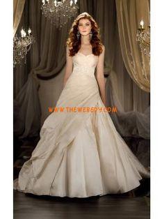 moderna applique stile semplice abito da sposa taffettà dal progettista 2013