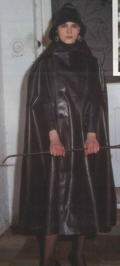 Black Rubber Cape  & Souwester