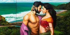 Ranveer and Deepika at Piha. Frankie Goes To Bollywood, by Bepen Bhana. Hindu diaspora in New Zealand.