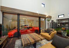 SE構法で叶えたリビングで愛車を眺めるガレージハウス