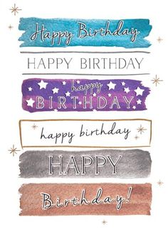Designed by Amy Eastland - Birthday card - 'Happy Birthday Type' Cold foil and emboss