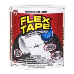 Flex Tape x White Heavy Duty Duct Tape at Lowe's. Flex tape is a super strong, rubberized, waterproof tape that can patch, bond, seal and repair virtually everything. Flex Tape grips on tight and bonds Diy Lazy Susan, Concrete Resurfacing, Diy Workshop, Granite Stone, Tree Bark, Home Repairs, Duct Tape, Seal, Adhesive