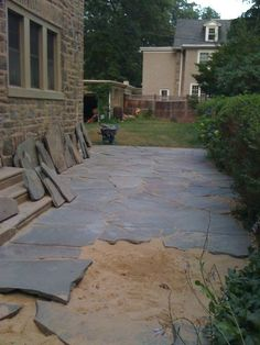 38 Ideas Natural Flagstone Patio Plants For 2019 Slate Patio, Flagstone Patio, Brick Patios, Concrete Patio, Pergola Patio, Diy Patio, Backyard Patio, Backyard Landscaping, Patio Ideas
