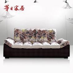 華日家居 簡約現代 喬伊斯三人位 懶人沙發時尚布藝沙發 客廳家具