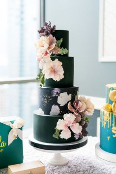 black 4 tier pink fl