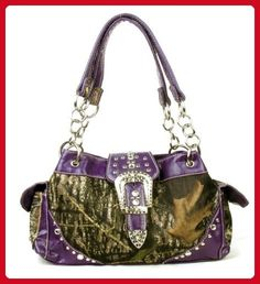 Western Purple Camouflage Buckle Rhinestone Purse - Wallets (*Amazon Partner-Link)