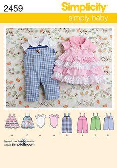 Babies romper Sewing Pattern 2459 Simplicity