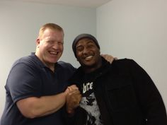 Mike Daniels visiting our offices. He is working to KNOW HIS GOAL. Are you?