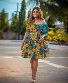 Ankara Styles For Women, Casual Dresses, Summer Dresses, Ankara Dress, African Fashion, Shoulder Dress, Photos, Casual Gowns, Casual Frocks