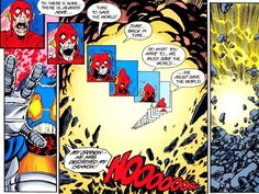 Crisis on Infinite Earths, DC Comics, Marv Wolfman and George Perez, the death of Barry Allen fighting the Anti-Monitor
