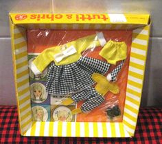 "1966 Vintage Barbie Tutti Chris ""Clowning Around"" NIB Mint Factory SEALED 6PCSET…"