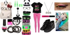 """""""Neon #2"""" by laurakhamner on Polyvore"""