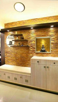 8 Satisfied Simple Ideas: False Ceiling Design Home false ceiling bedroom crown moldings.False Ceiling Bedroom Other. Home Entrance Decor, House Entrance, Home Decor, Entrance Ideas, Entrance Foyer, Main Entrance, Bedroom Storage Cabinets, Wall Storage, Shoe Storage
