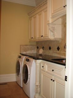 This backsplash is a MUST do for my laundry room! Matches my house perfectly!