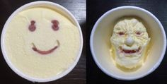 Smiley face ice cream will unexpectedly terrify you when it starts melting