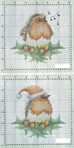 Птицы и птички - 14 схем для вышивки крестом