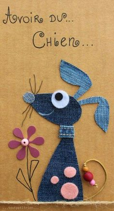 Ideas for Crafts and Handmade DIY Jean Crafts, Denim Crafts, Diy And Crafts, Crafts For Kids, Arts And Crafts, Fabric Art, Fabric Crafts, Paper Crafts, Applique Patterns