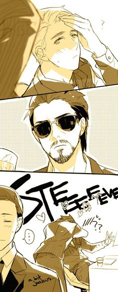 Tony/Steve: Do not disturb Captain 2 by mixed-blessing.deviantart.com: