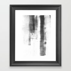 """Black and White Minimalist Geometric Abstract Painting """"Structure"""" - Choose from a variety of frame styles, colors and sizes to complement your favorite Society6 gallery, or fine art print - made ready to hang. Fine-crafted from solid woods, premium shatterproof acrylic protects the face of the art print, while an acid free dust cover on the back provides a custom finish. All framed art prints include wall hanging hardware."""
