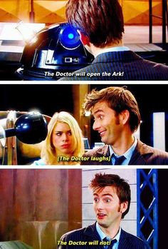 Rose is just like Doctor are you seriously laughing right now don't get us killed.
