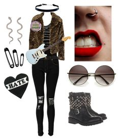 """Schizo: Rocka"" by twisted-doll ❤ liked on Polyvore featuring Love, Simdog, Don't Ask Amanda, Boohoo, DKNY, Alkemie, Ash, grunge, OC and schizo"