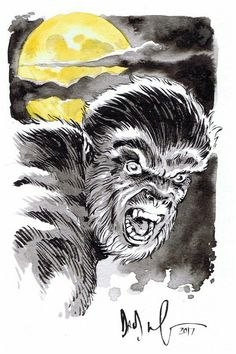 Jack Russell WEREWOLF BY NIGHT by Dave Wachter