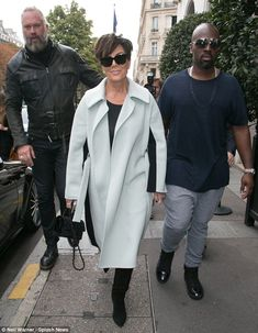 It's the city of romance after all: Kris, 59, took time out of hobnobbing with the Paris f...