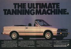 1987 BMW 325i Convertible Ultimate Tanning Machine Print Ad