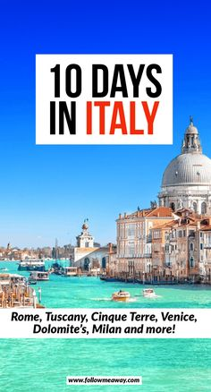 How To spend 10 days in Italy The Ultimate 10 day italy itinerary Italy for first timers top Italy travel itinerary Tips for planning your 10 days in Italy how to plan a trip to Italy to Italy for 10 days best things to do in Italy - Travel 10 Days In Italy, Things To Do In Italy, Italy Travel Tips, Rome Travel, Travel Destinations, Travel Europe, Best Places To Travel, Cool Places To Visit, Vacation Places