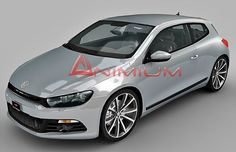 Highly detailed 3d car model of Volkswagen Scirocco, with standard materials and bitmaps.