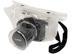 Let's take pictures in a rainy day. Transparent DSRL camera bag. Nice!